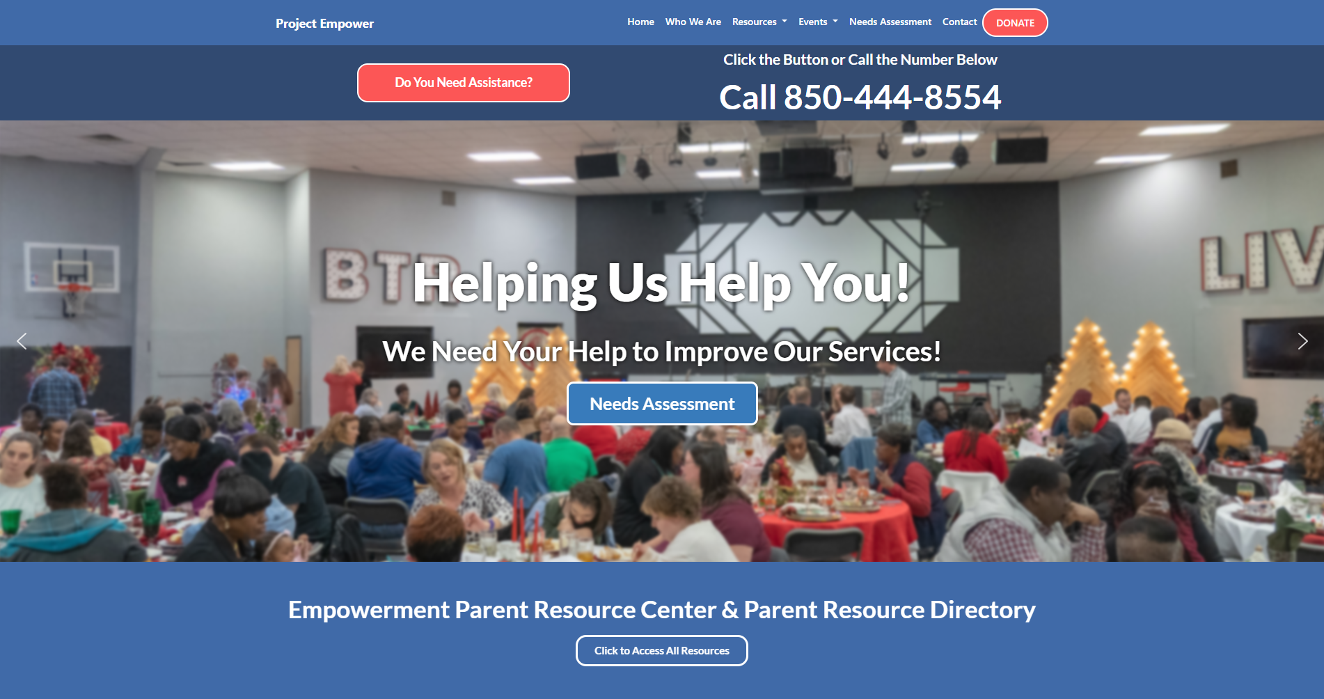 Image showcasing Customized Project Empower Website